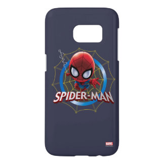 Mini Stylized Spider-Man in Web Samsung Galaxy S7 Case
