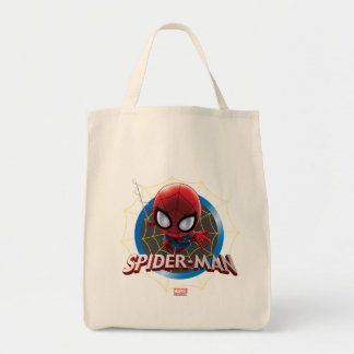 Mini Stylized Spider-Man in Web Tote Bag