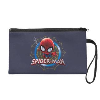 Mini Stylized Spider-Man in Web Wristlet
