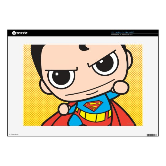 "Mini Superman Flying 15"" Laptop Decals"