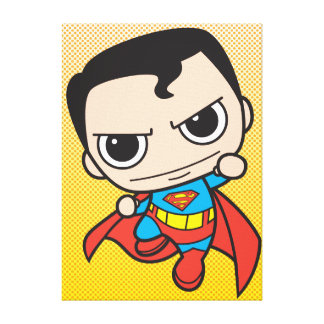 Mini Superman Flying Canvas Print