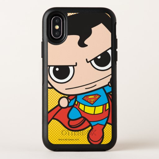 Mini Superman Flying OtterBox Symmetry iPhone X Case