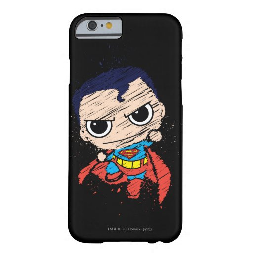 Mini Superman Sketch - Flying Barely There iPhone 6 Case