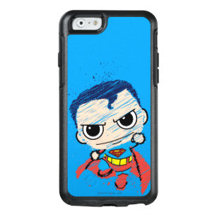 Mini Superman Sketch - Flying OtterBox iPhone 6/6s Case