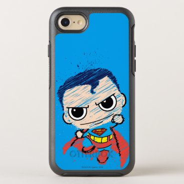 Mini Superman Sketch - Flying OtterBox Symmetry iPhone 8/7 Case