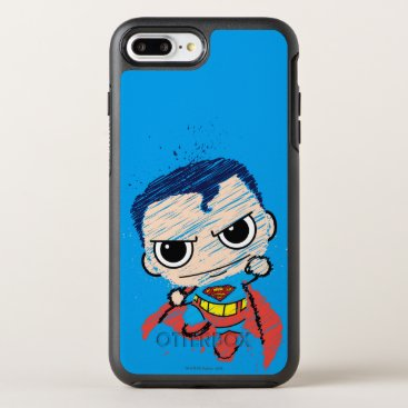 Mini Superman Sketch - Flying OtterBox Symmetry iPhone 8 Plus/7 Plus Case