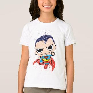 Mini Superman Sketch - Flying T-Shirt