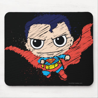 Mini Superman Sketch Mouse Pad