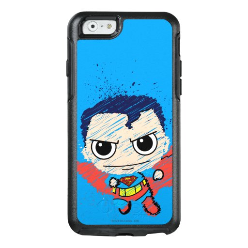 Mini Superman Sketch OtterBox iPhone 6/6s Case