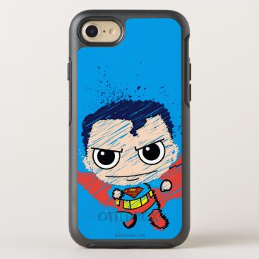 Mini Superman Sketch OtterBox Symmetry iPhone 8/7 Case