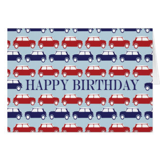 Mini tarjeta de cumpleaños de la tarjeta