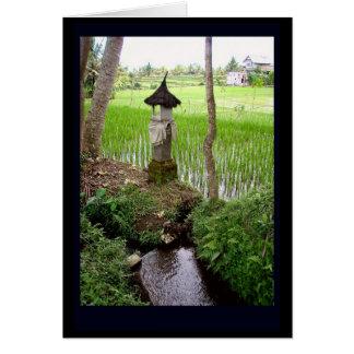 Mini tarjeta de felicitación del templo de Ubud