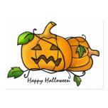 Mini tarjeta de las calabazas de Halloween Tarjeta De Visita