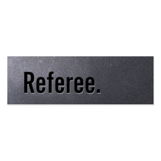 Mini tarjeta de visita de carbón del árbitro simpl