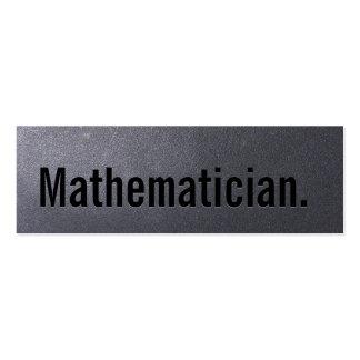 Mini tarjeta de visita de carbón del matemático si