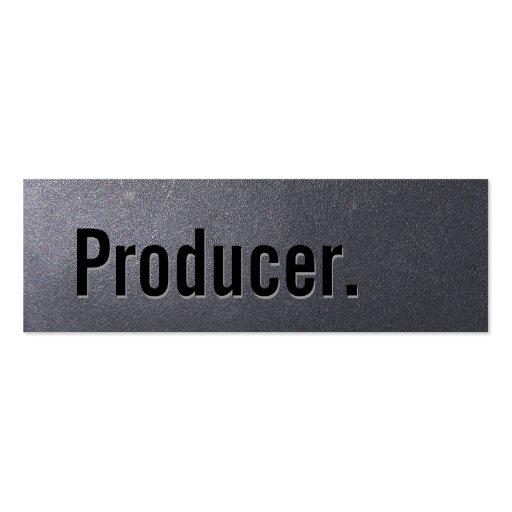 Mini tarjeta de visita de carbón del productor sim