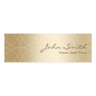 Mini tarjeta de visita de Geo del oro de lujo de l