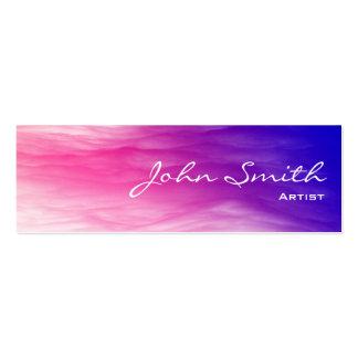 Mini tarjeta de visita de las nubes coloridas artí