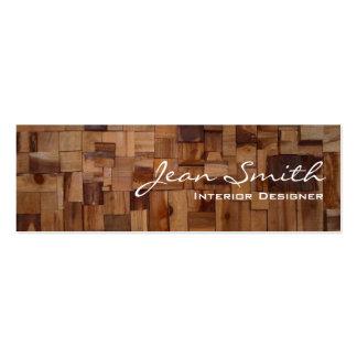 Mini tarjeta de visita de madera decorativa del di