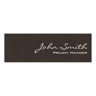 Mini tarjeta de visita de madera oscura profesiona