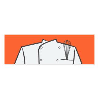 Mini tarjeta de visita del chef ejecutivo