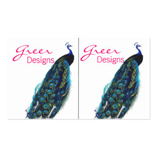 Mini tarjeta de visita del pavo real exótico