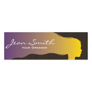 Mini tarjeta de visita del pelo del estilista colo