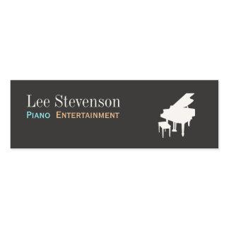 Mini tarjeta de visita del piano