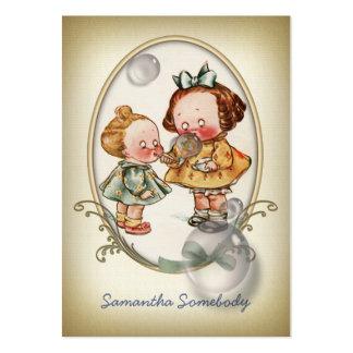 Mini tarjeta del perfil de la postal de los niños tarjetas de visita