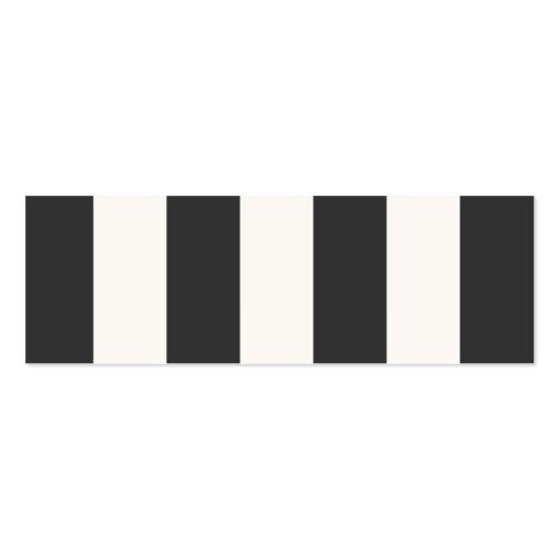 Mini tarjeta del perfil de las rayas blancos y neg tarjetas de negocios