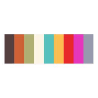 Mini tarjeta del perfil de las rayas coloridas tarjetas de visita mini
