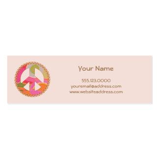 Mini tarjeta del perfil del signo de la paz tarjetas de visita mini