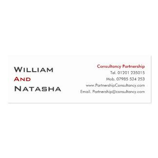 Mini tarjeta del perfil - sociedad de la consulta tarjetas de visita mini