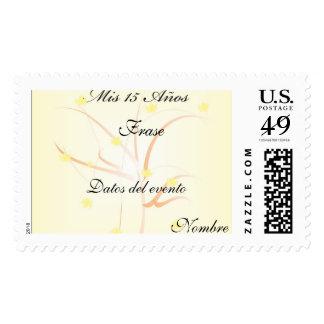 Mini tarjeta para 15 años sellos