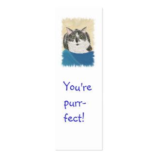 Mini tarjetas de la señal, gato del smoking plantilla de tarjeta de visita