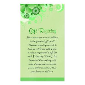 Mini tarjetas del hibisco del registro de regalos tarjetas de visita