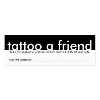 mini tattoo a friend mini business card