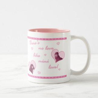 Mini taza del amor del Macaw