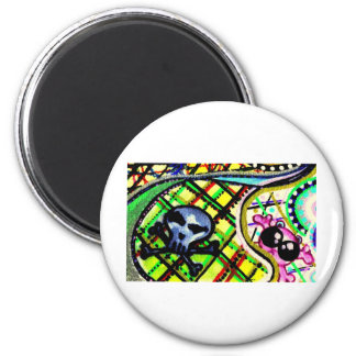 mini têtes de mort 2 inch round magnet