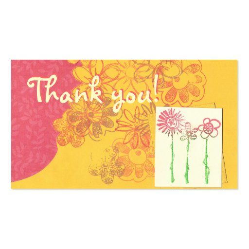 Mini thank you cards double sided standard business cards for Mini business cards template