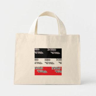 Mini tote canvas bag
