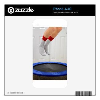 Mini Trampoline Jumping iPhone 4S Skins
