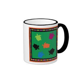 mini turtles rainbow squares Mug