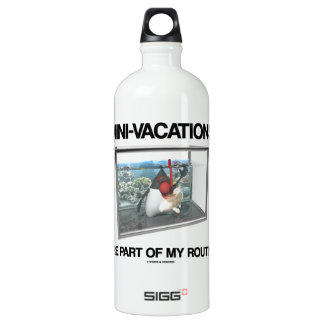 Mini-Vacations Are Part Of My Routine (Java Duke) Water Bottle