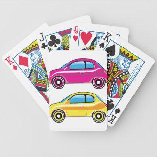 Mini vector del vehículo del pequeño coche cartas de juego