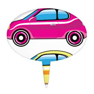 Mini vector del vehículo del pequeño coche decoración de tarta
