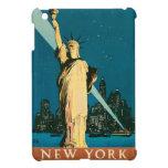 Mini vintage Nueva York del caso de Ipad en la noc