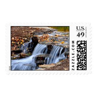 Mini waterfall at Lake Shawnee Stamp
