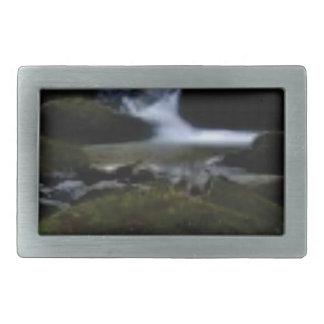 Mini waterfalls rectangular belt buckle