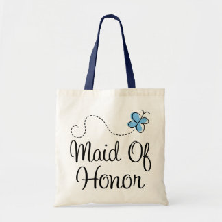 Mini Wedding Day Maid Of Honor Blue Tote Bag